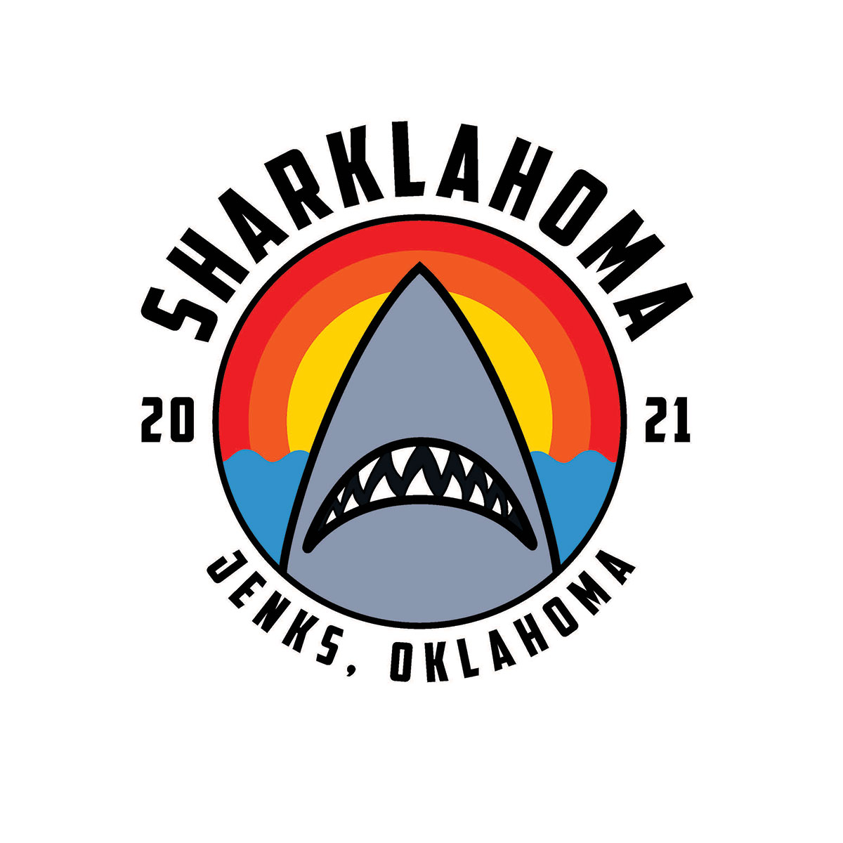 A logo for Jenks' month-long Sharklahoma celebration